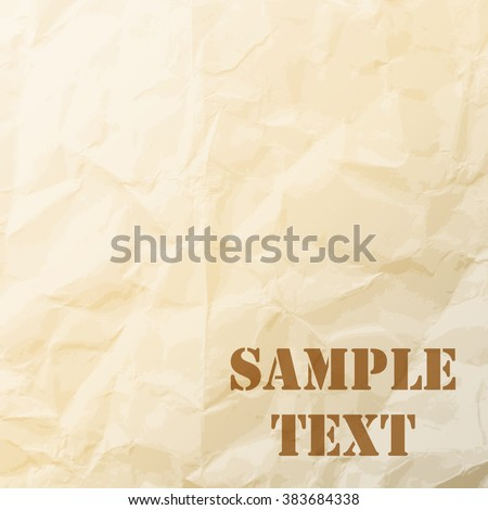 Abstract sand tone  grunge background of old paper texture. - stock vector