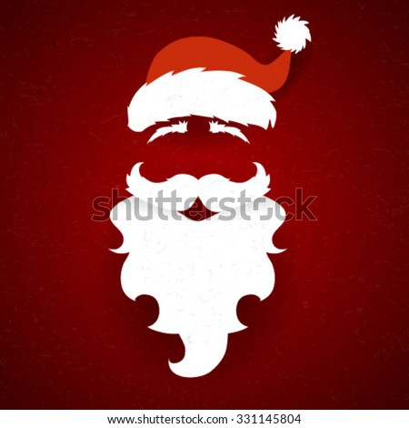 Abstract Santa Claus vector silhouette