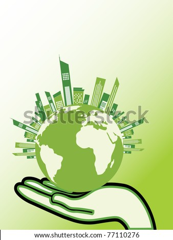 abstract save earth concept background, vector illustration - stock vector