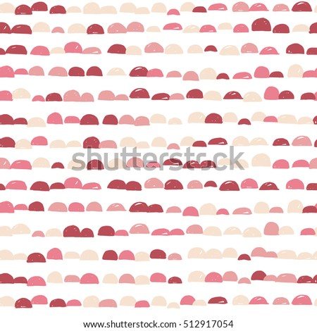 Abstract scandinavian cute colorful semicircle moon design with white background, pattern seamless backdrop wallpaper.