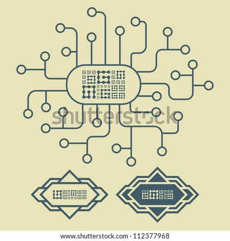 Abstract scheme. Vector illustration. - stock vector
