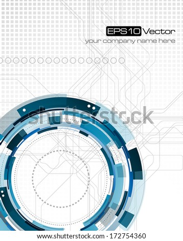 Abstract science and technology background - Vector illustration - stock vector