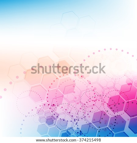 abstract science technology background, vector illustration