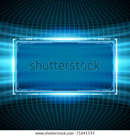 Abstract science wire with smooth light vector background. Eps 10. - stock vector