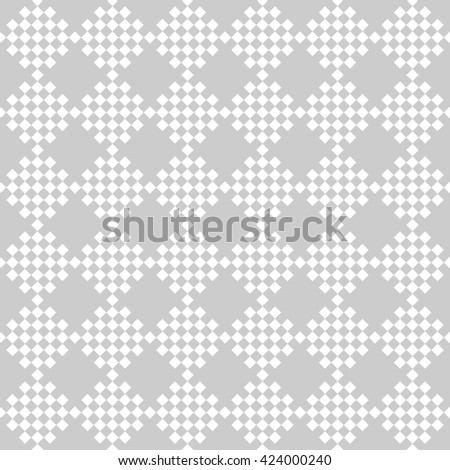 abstract scott pattern background with light grey.monochrome pixel art.ornament vector - stock vector