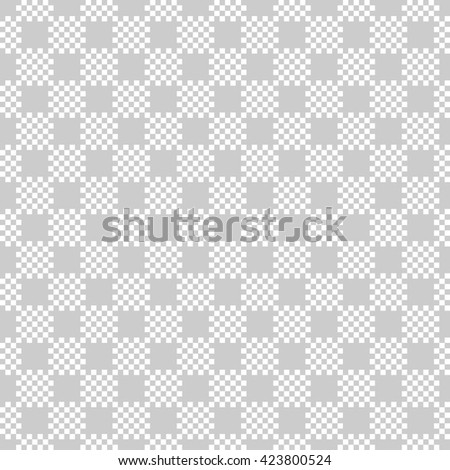 abstract scott pattern background with light grey.pixel art.monochrome vector - stock vector