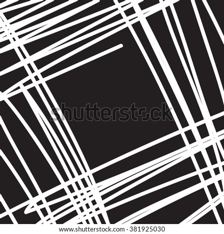 abstract scratched black ink texture and background, grunge splash, vector paint - stock vector