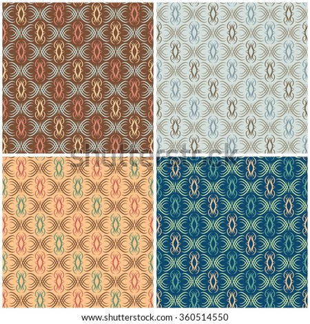 Abstract Scroll Pattern repeats seamlessly. - stock vector
