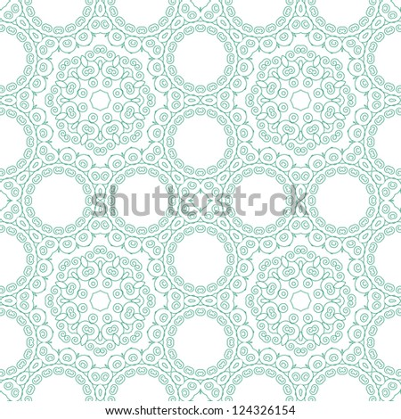 Abstract seamless background. Filigree vector design. - stock vector