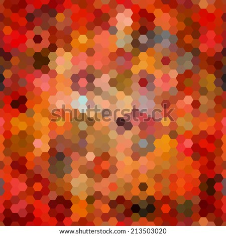 Abstract seamless background of hexagons. Vector illustration - stock vector