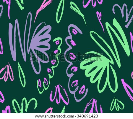 Abstract seamless background pattern , vector illustration . Free hand drawings .