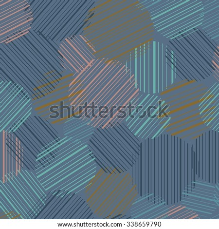 Abstract seamless background. Seamless pattern with colorful circles. Vector illustration. - stock vector