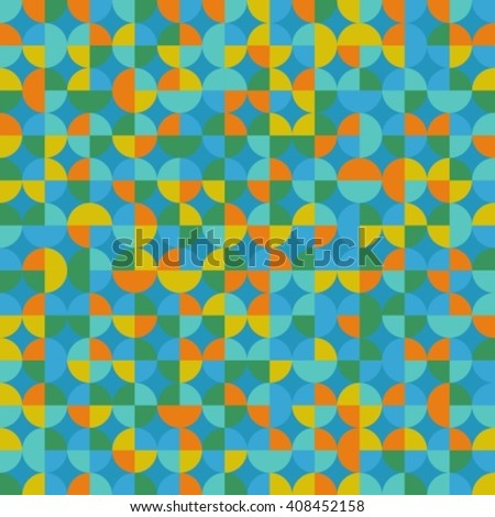 Abstract seamless background with blue and green circles.