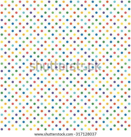 abstract seamless background with dots in different colors