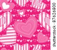 Abstract seamless background with hearts - stock vector