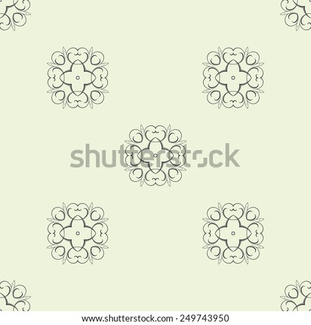 Abstract seamless background with ornament. Pattern. Abstract - stock vector
