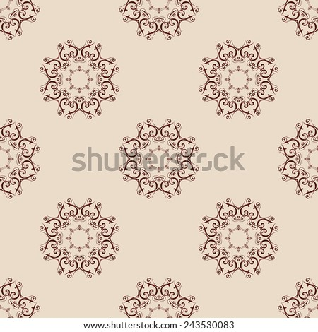 Abstract seamless background with ornament. Vector illustration