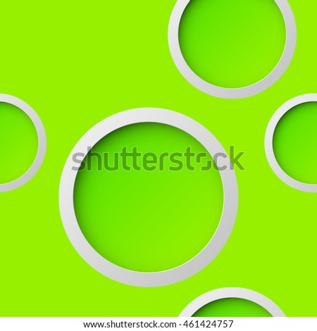 Abstract seamless background with round holes and the second bottom