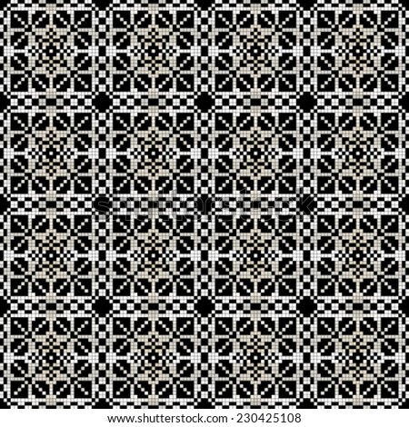 abstract seamless black and white background with geometric pattern. Vector, EPS 8