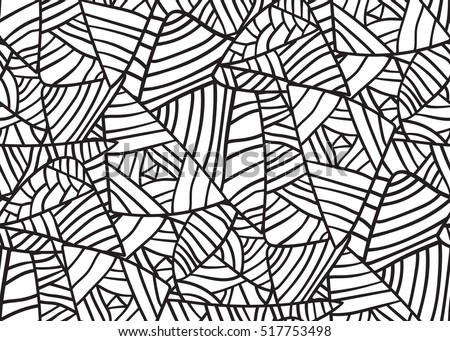 Abstract seamless black and white geometrical pattern.