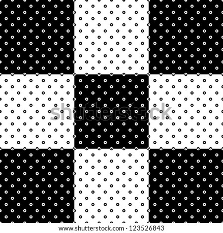 Abstract seamless black and white pattern background