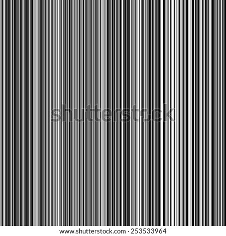 Abstract seamless black and white stripes line background - stock vector