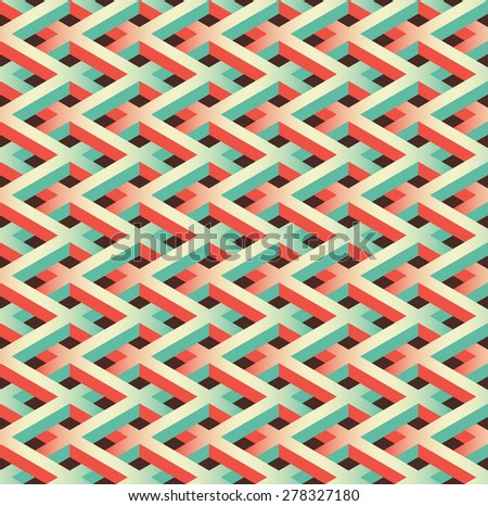abstract seamless chain link fence pattern - stock vector