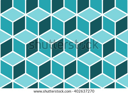 Abstract seamless cube pattern. Geometric vector background. Optical illusion. - stock vector