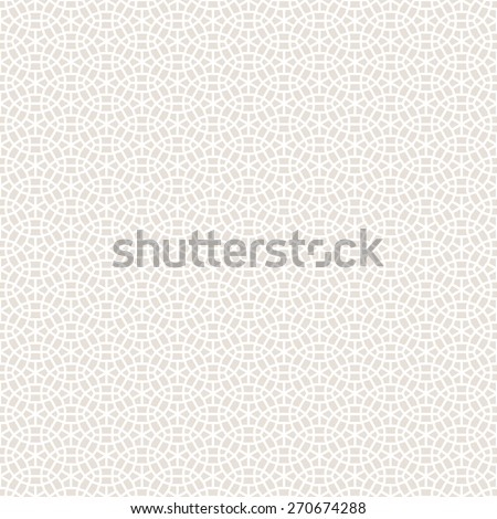 Abstract Seamless Decorative Geometric Light Gold & Beige Pattern - stock vector