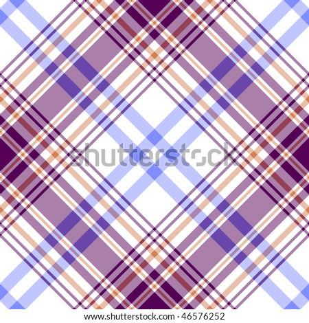 Abstract seamless diagonal white tartan pattern (vector EPS 10) - stock vector