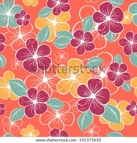 abstract seamless flower pattern. Colorful vector illustration