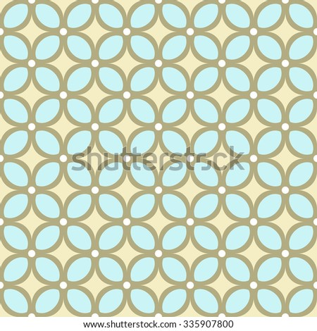 Abstract Seamless geometric floral pattern. vector illustration