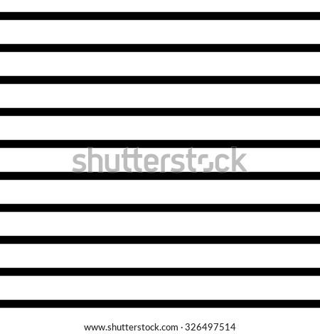 Abstract Seamless geometric Horizontal striped pattern with black and white stripes. Vector illustration - stock vector