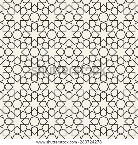 Abstract seamless geometric islamic wallpaper pattern for your design - stock vector
