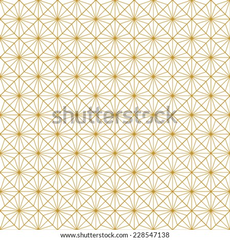 Abstract seamless geometric pattern.Golden background.White  wallpaper.Geometry gold grid texture.Vintage style texture.Vector illustration - stock vector