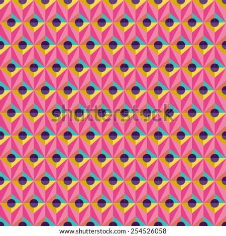Abstract Seamless Geometric Pattern. Vector - stock vector