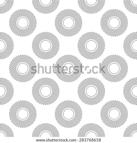 Abstract Seamless geometric pattern with gray circles on white background.Vector - stock vector