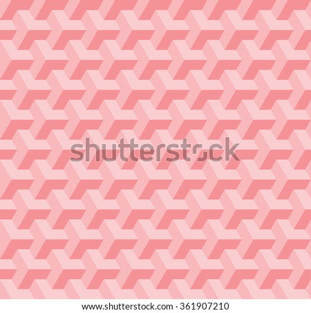 Abstract seamless geometric pattern with interlaced grids, pink color - stock vector
