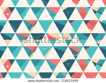 Abstract Seamless geometric shape vector pattern background - stock vector