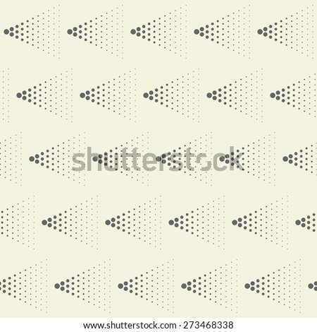 abstract seamless geometric spotty pattern - stock vector