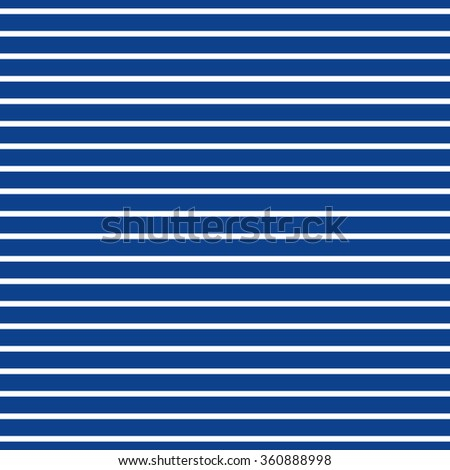 Abstract Seamless Horizontal striped pattern with navy blue and white stripes. Vector illustration - stock vector