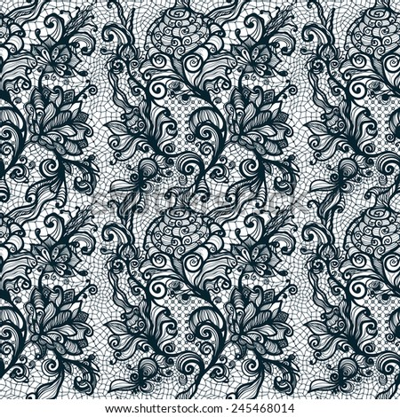 Abstract seamless lace pattern with flowers. Infinitely wallpaper, decoration for your design, lingerie and jewelry. Your invitation cards, wallpaper, and more. - stock vector