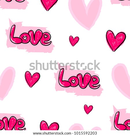 Abstract Seamless Love Pattern Valentine Day Stock Vector ...