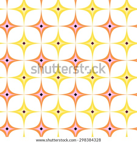 abstract seamless ornament pattern  Star background