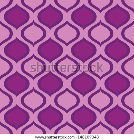 abstract seamless ornament pattern vector illustration - stock vector