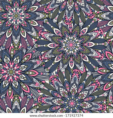 Abstract seamless pattern background with flowers - stock vector