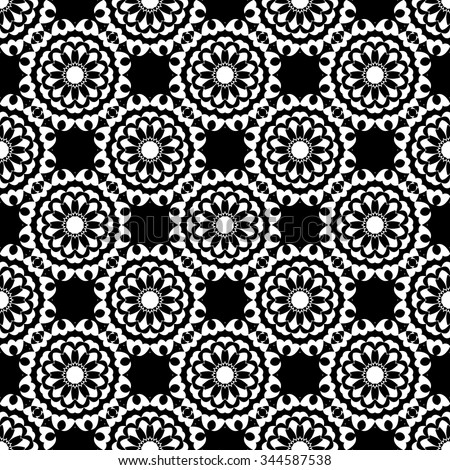 abstract seamless pattern black and white Vector seamless pattern. Seamless background pattern. Modern stylish texture. Repeating geometric. - stock vector