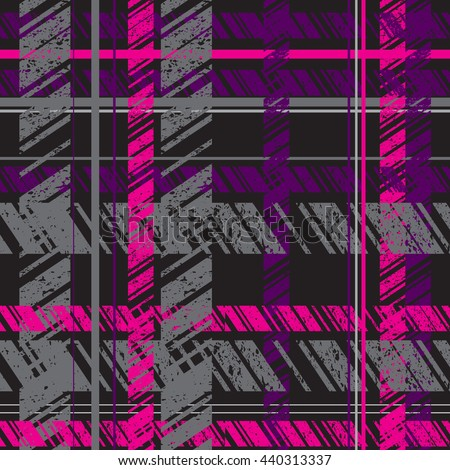 Abstract Seamless Pattern For Textile. Plaid Material. Wallpaper With  Bright Geometric Elements For Guys