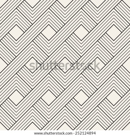 Abstract seamless pattern. Geometric simple rectangular background. Vector illustration with striped elements - stock vector