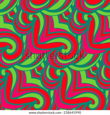Abstract seamless pattern in doodle style. Vector illustration